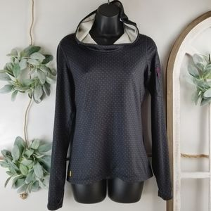 Lola - Dark Gray Pullover with Hoodie - S